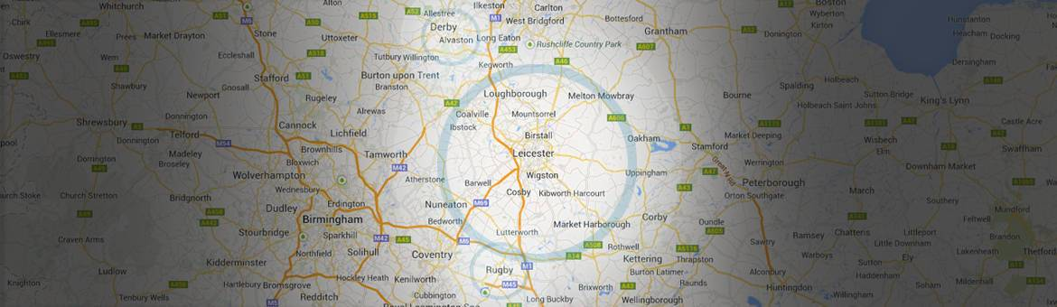 Locksmith Leicester Map